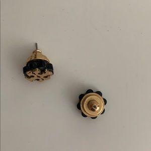 Tory Burch Jewelry - Tory Burch Black & Gold Earrings